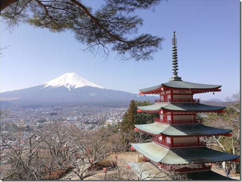 富士山旅2017/03 絶景スポット・新倉山浅間公園の忠霊堂から眺める富士山に感動の編