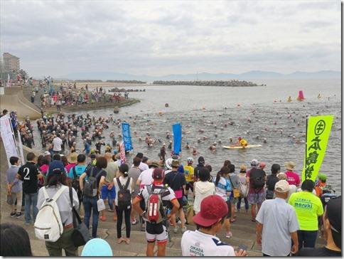 鳥取旅2017/07 第37回・全日本トライアスロン皆生大会のスタートを見守るの編