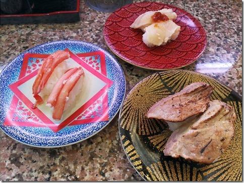 鳥取食その4 大漁丸にて回転寿司@境港